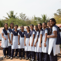 Image of female schoolchildren for solar powered observatory case study
